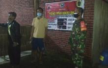 Patroli Wilayah , Babinsa Koramil 04/Pedan Cek PPKM Mikro Di Desa Binaan