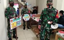 Koramil Karangdowo laksanakan Operasi Penegakan Disiplin Protokol Kesehatan