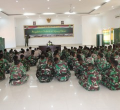 Anggota Satgas Terima Pembekalan Dansatgas TMMD Ke 110 Kodim Natuna