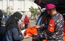 TNI AL LANTAMAL III VAKSINASI COVID-19 DOSIS KE-2 DI MUARA ANGKE TJ. PRIOK JAKUT