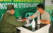 Serbuan Vaksinasi Kodim Klaten Menyasar Kepada Warga Binaan Lapas Klaten