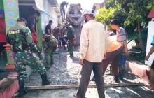 Babinsa Koramil 21 Juwiring Pelopori Karya Bakti Di Wilayah Binaan
