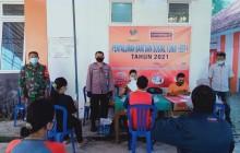 Babinsa Dan Bhabinkamtibmas Pedan Amankan Penyaluran BST